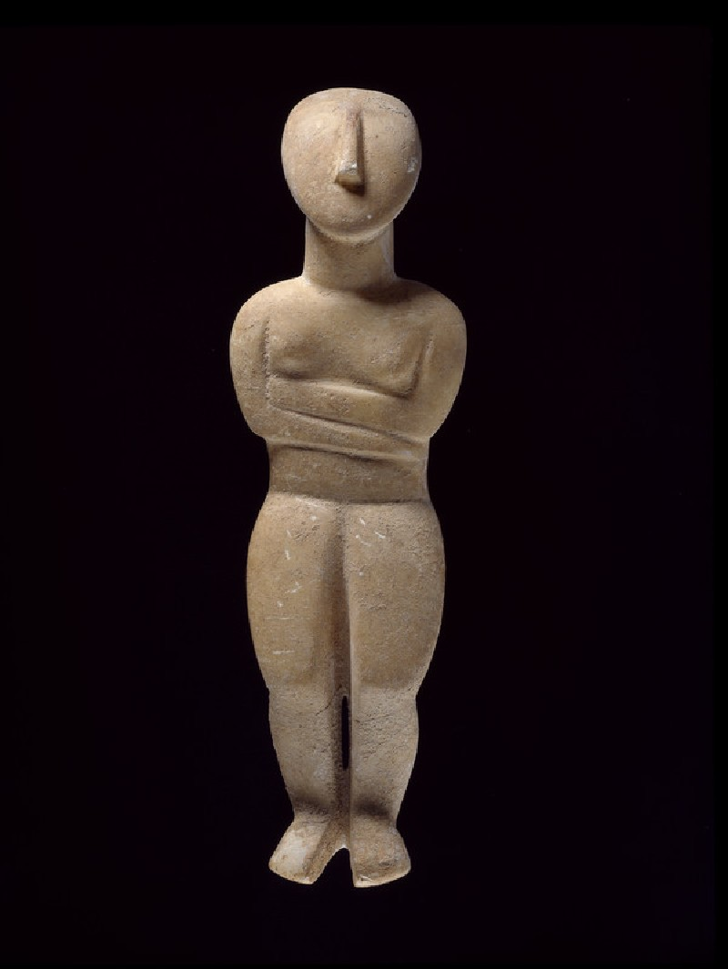 Cycladic female figurine (Spedos type) (AN1896-1908.AE.178)