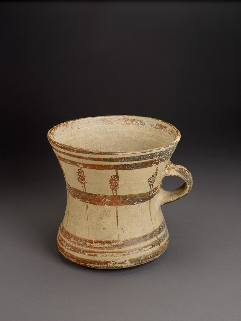 Mycenaean tankard decorated with painted murex shells and bands (AN1896-1908.AE.294)