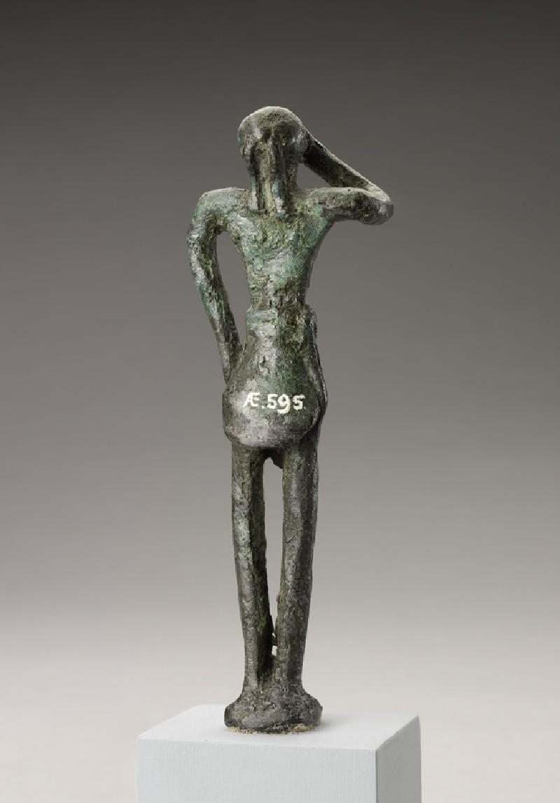 Minoan bronze figurine of male votary