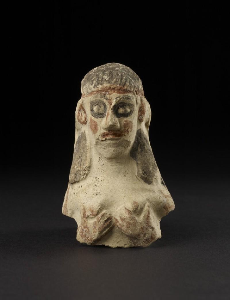 Naked female figurine clutching her breast, upper torso, so-called Astarte-figurine (AN1896-1908.C.269)
