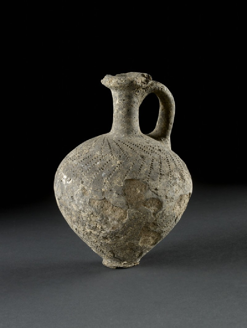 Black punctured Juglet (Tell el-Yahudiyeh ware) (AN1896-1908.C.31)
