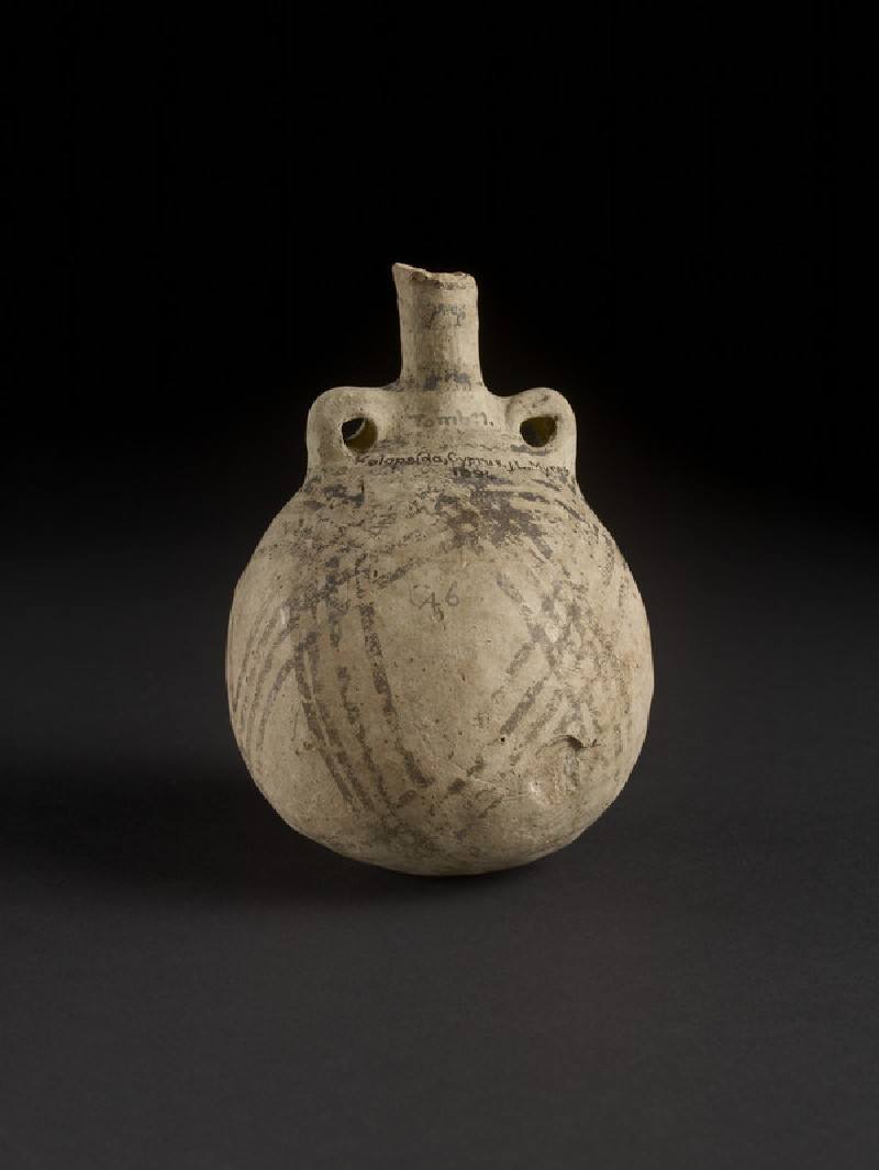White Painted IV bulbous amphoriskos bottle (AN1896-1908.C.46)