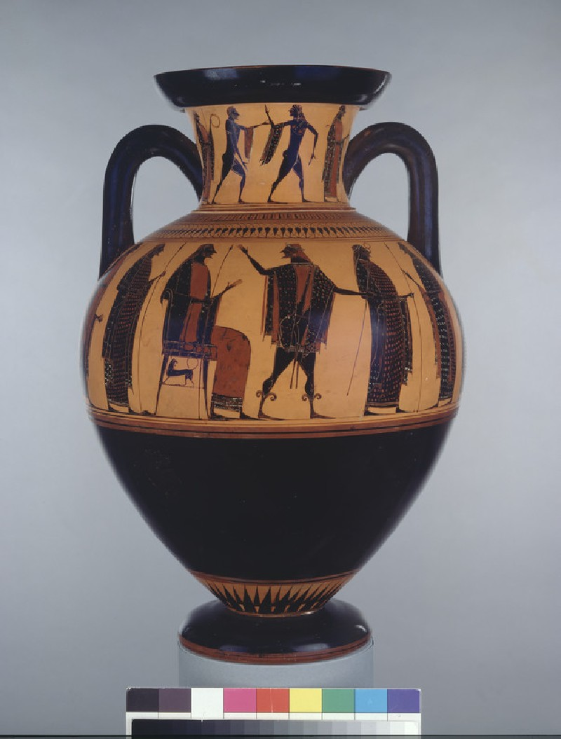 Attic black-figure pottery amphora