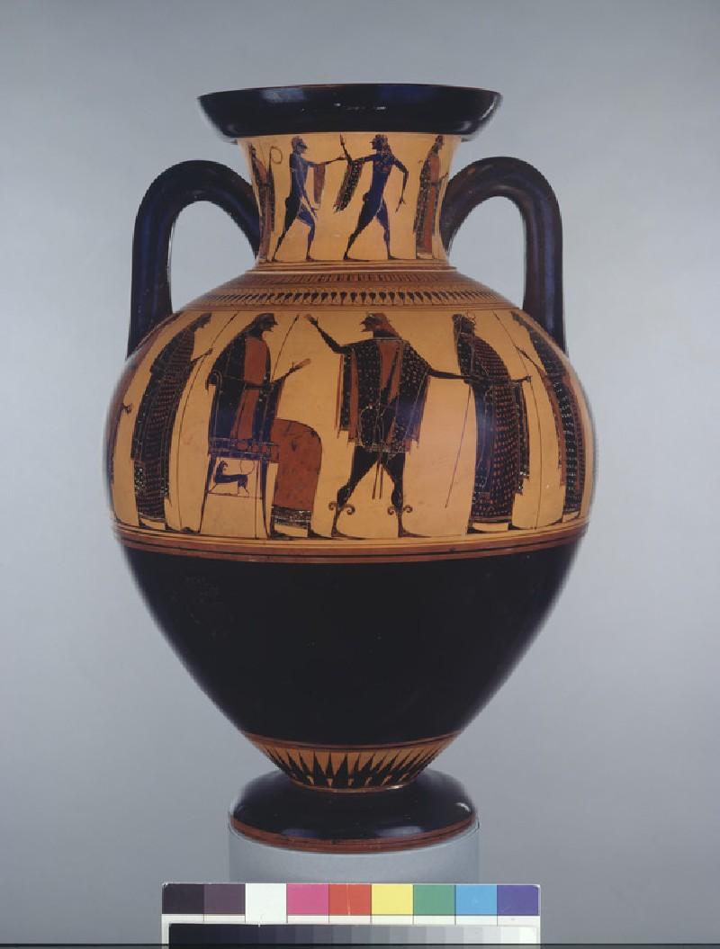 Attic black-figure pottery amphora (AN1896-1908.G.268)