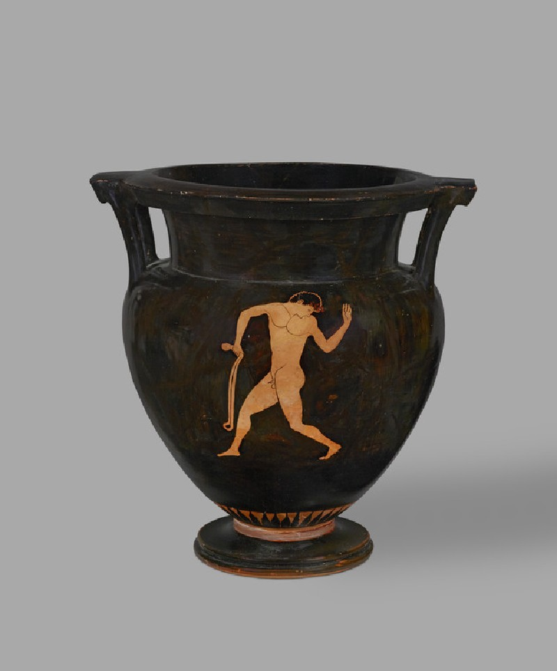 Attic red-figure pottery krater depicting an athletics scene (AN1896-1908.G.297)