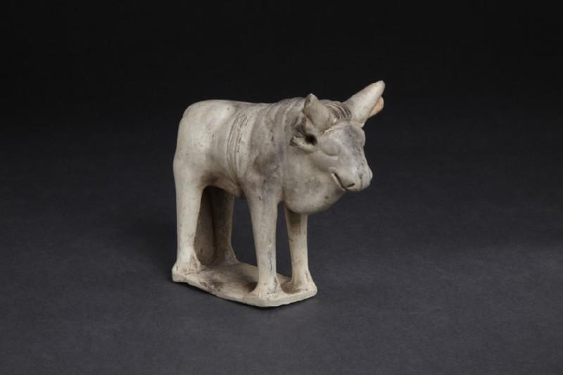 Terracotta figurine of a bull