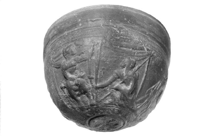 Hemispherical bowl with relief scenes, Megarian bowl
