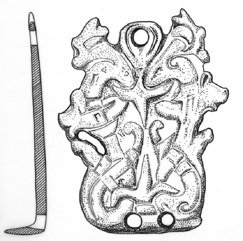 Stirrup-strap mount