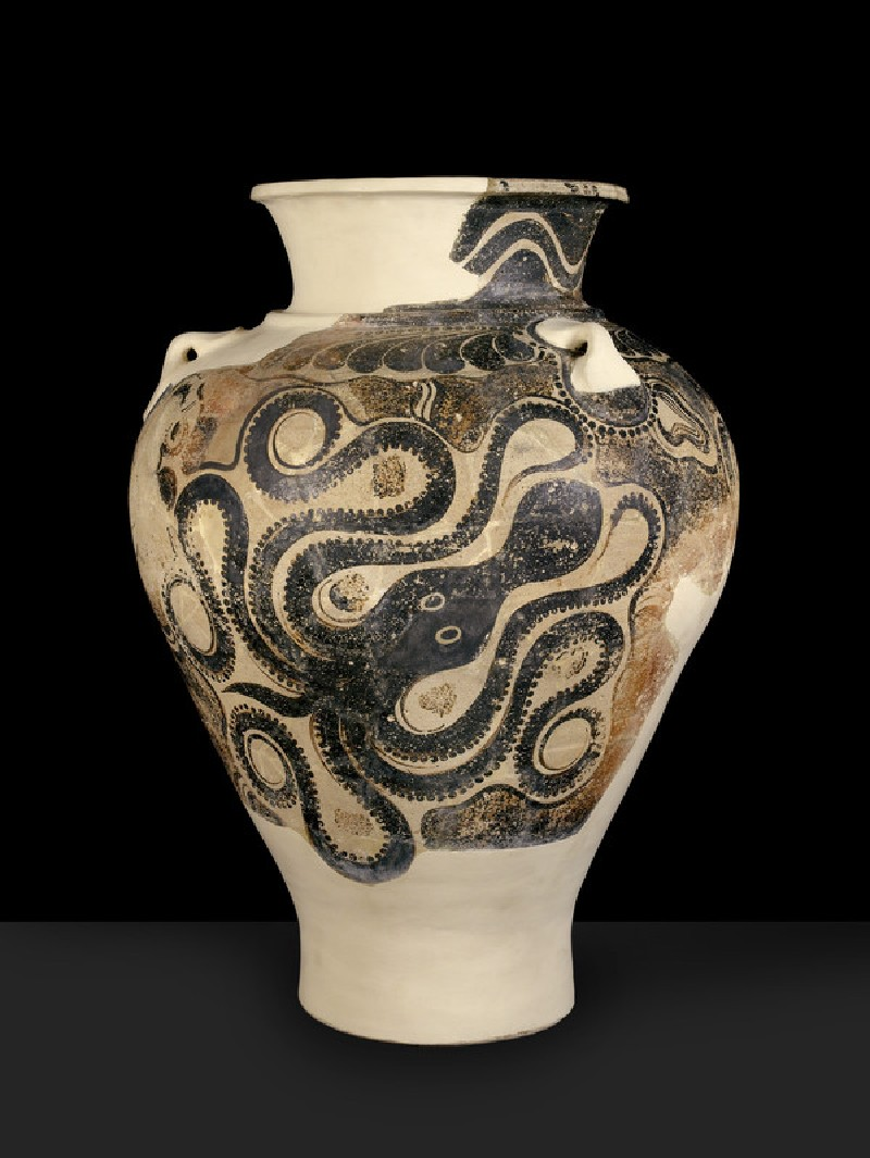 Jar with octopus motif
