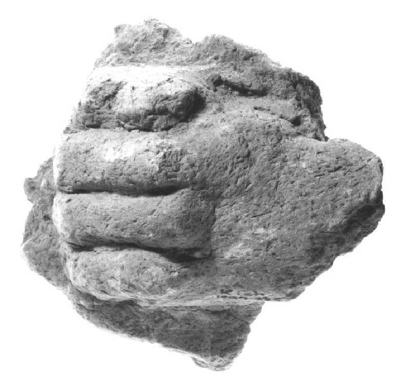 Figurine of a lion's paw