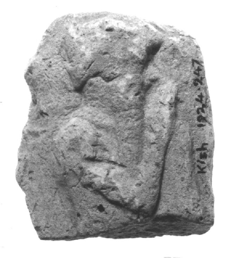 Plaque with a male figurine