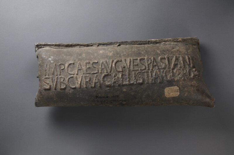 Water pipe stamped in Latin to Emperor Vespasian