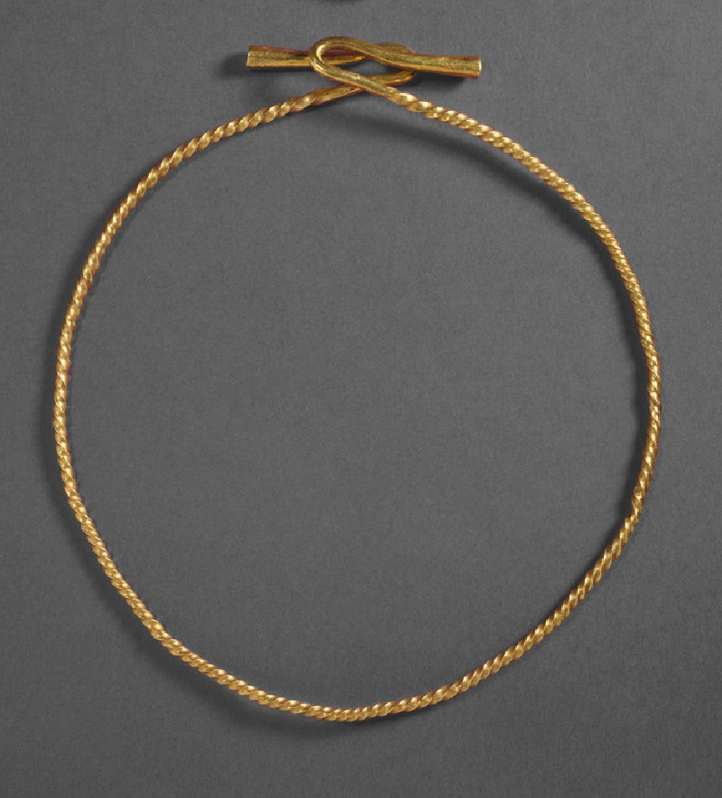 Gold flanged twisted torc from a hoard