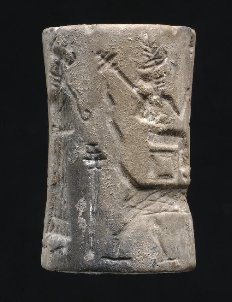 Cylinder seal with Old Akkadian mythological scenes (AN1931.199)