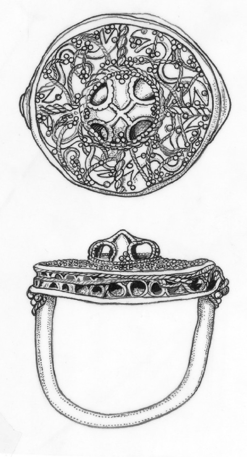 Finger-ring decorated with interlaced filigree ornament in very high relief (AN1935.3)