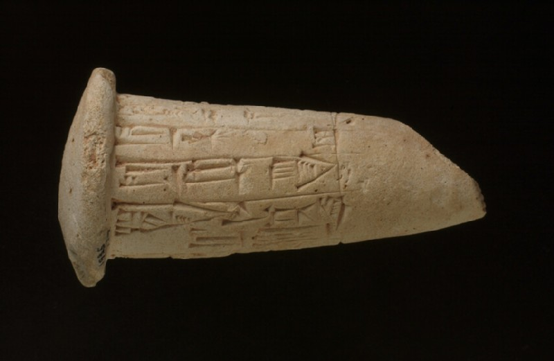 Wall cone with cuneiform text (AN1935.774)
