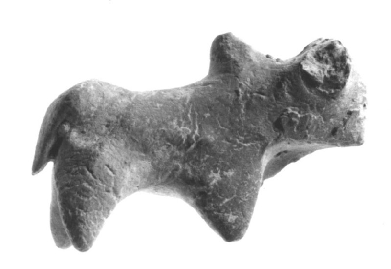 Figurine of a humped-backed bull