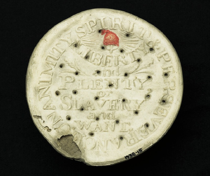 Commemorative anti-slavery biscuit