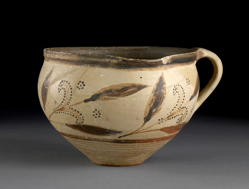 One-handled cup decorated with floral designs (AN1938.476)