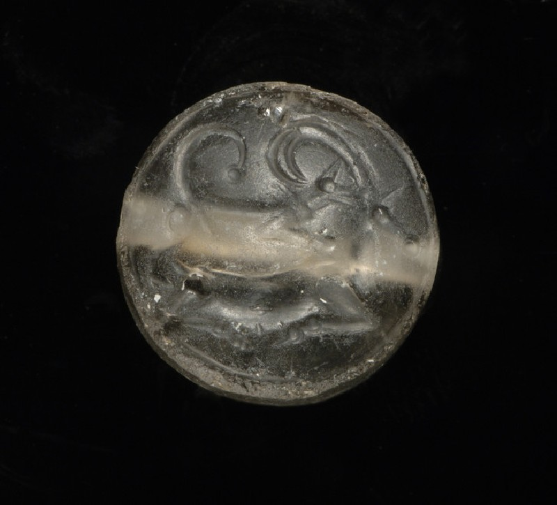 Seal with a hound attacking a wild goat (AN1938.943)