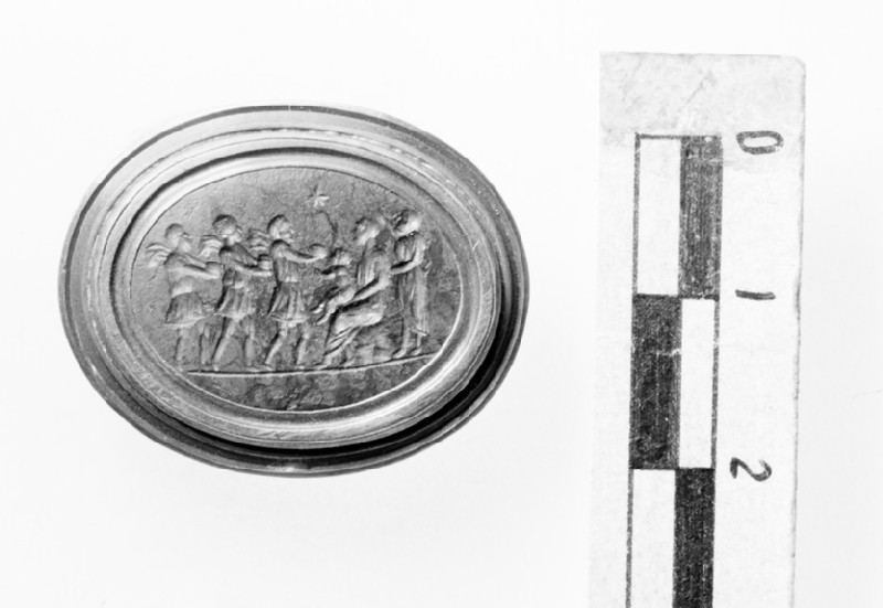 Intaglio gem, Adoration of the Magi (AN1938.1109)