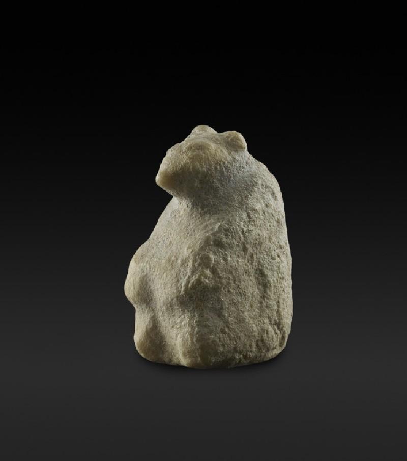 Stone bear figurine