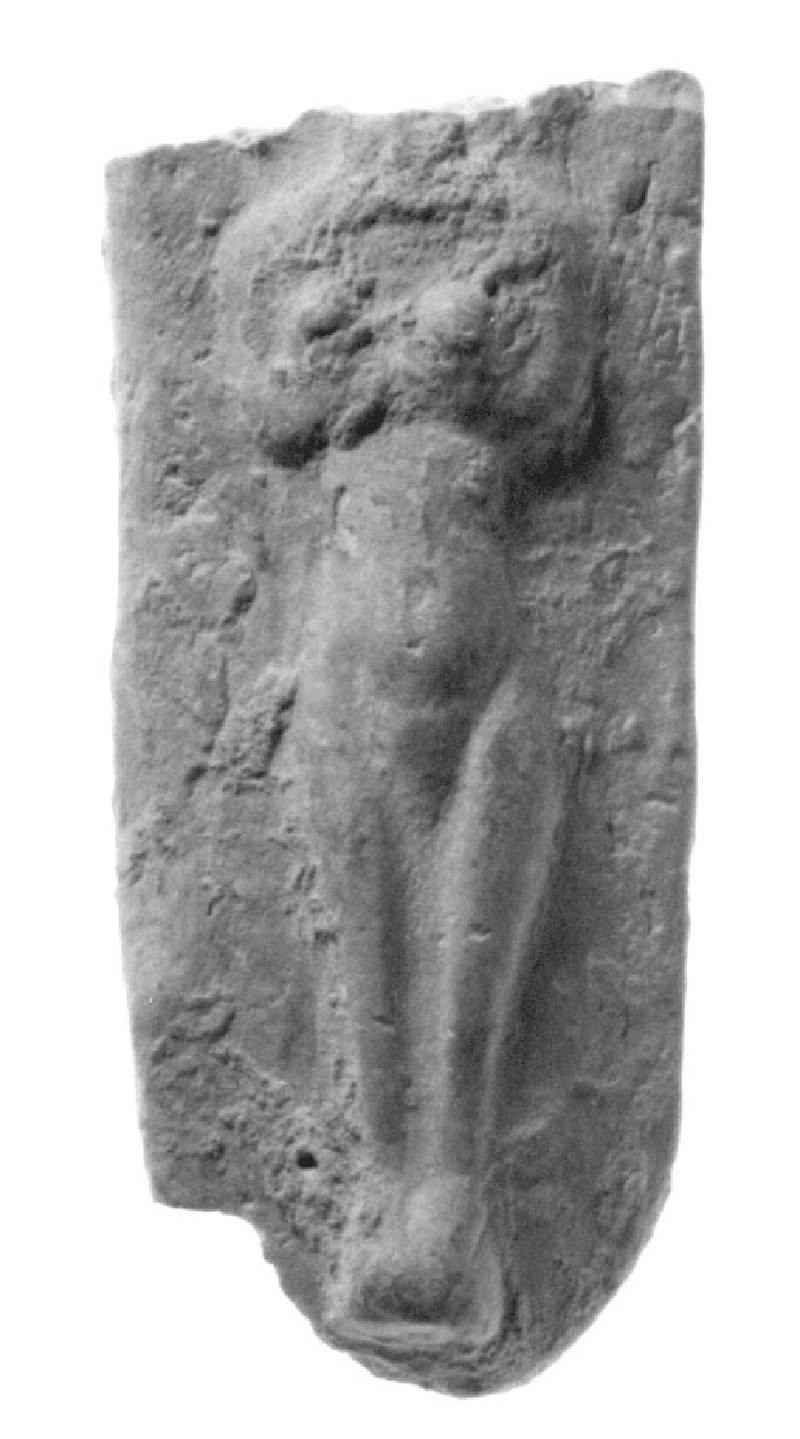 Plaque figurine, nude female in relief