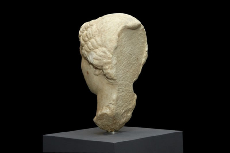 Marble head from a statue of Livia