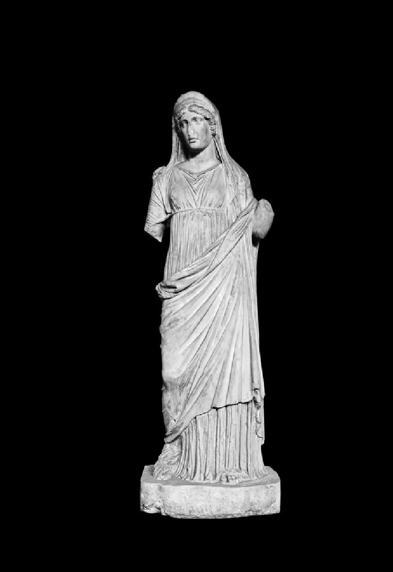 Statue of woman, probably Hygieia