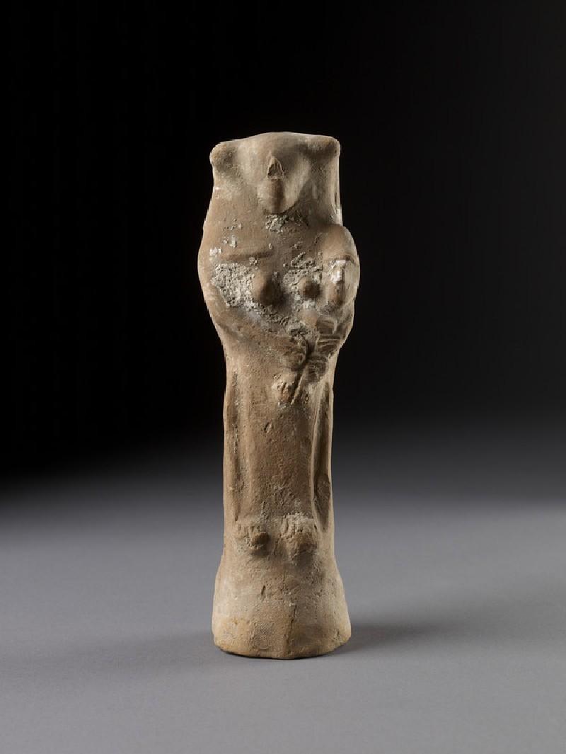 Dea Tyria gravida figurine with infant (AN1950.21)