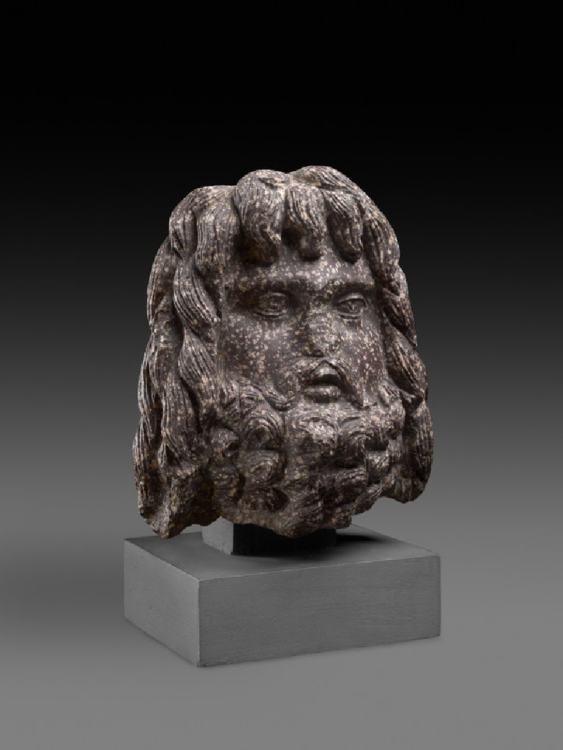 Egyptian porphyry head of Serapis (AN1955.333)
