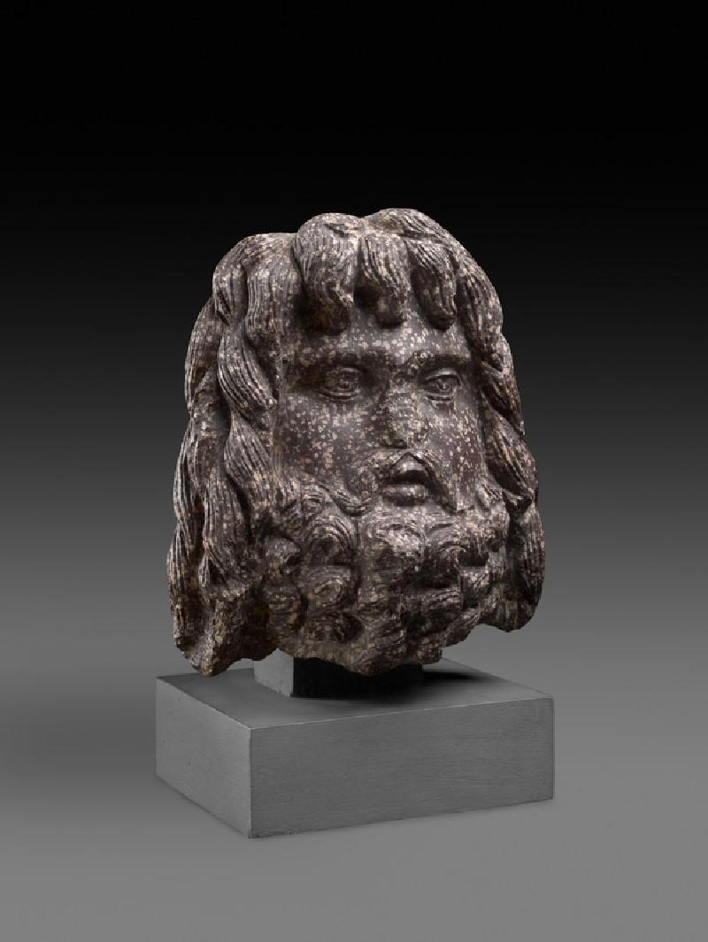 Egyptian porphyry head of Serapis