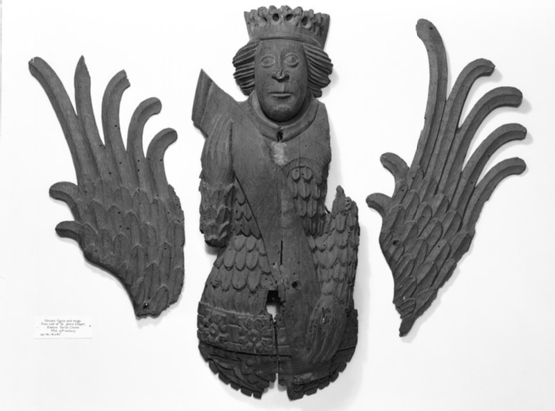 Figure of an angel from ceiling decoration