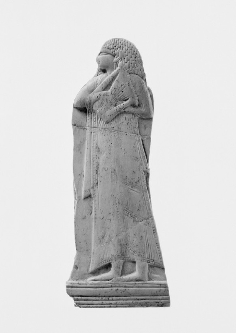 Relief of female musician with lyre