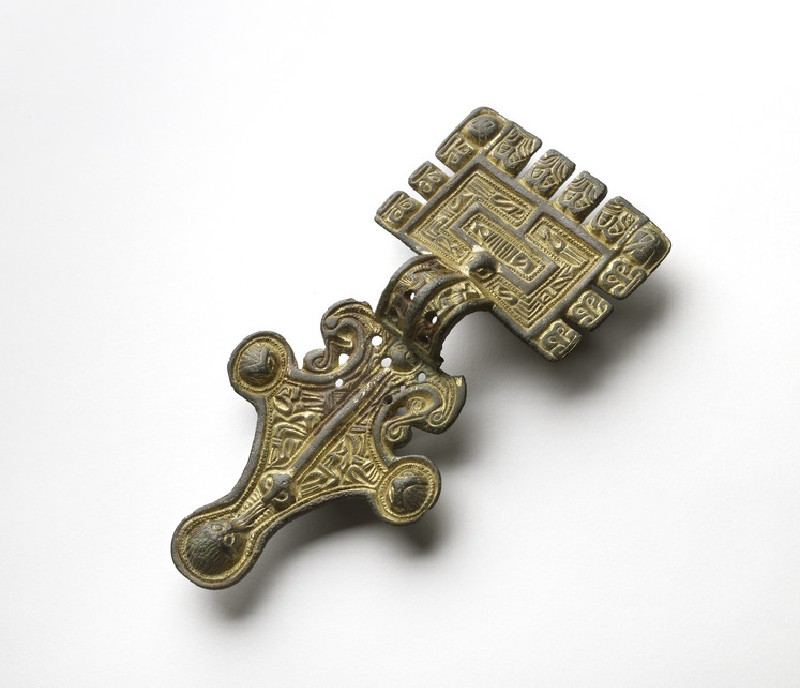 Gilt square headed brooch (AN1961.86)