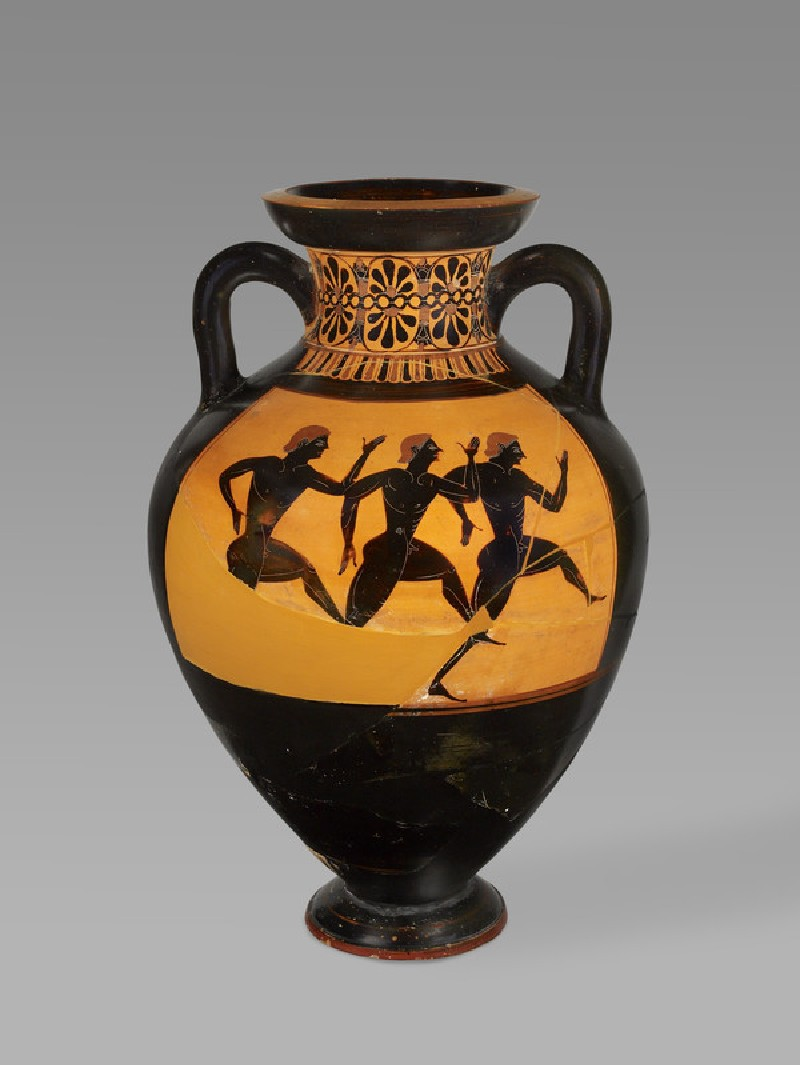 Attic black-figure pottery Panathenaic amphora (AN1965.117)