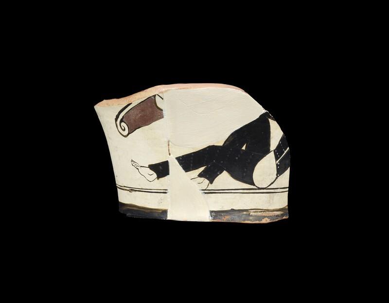 Attic red-figure white ground pottery kantharos (AN1966.917)