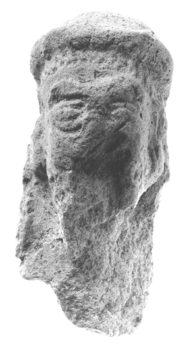 Figurine of a male head