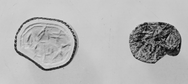 Scarab seal inscribed in Cypro-Syllabic (AN1970.519)