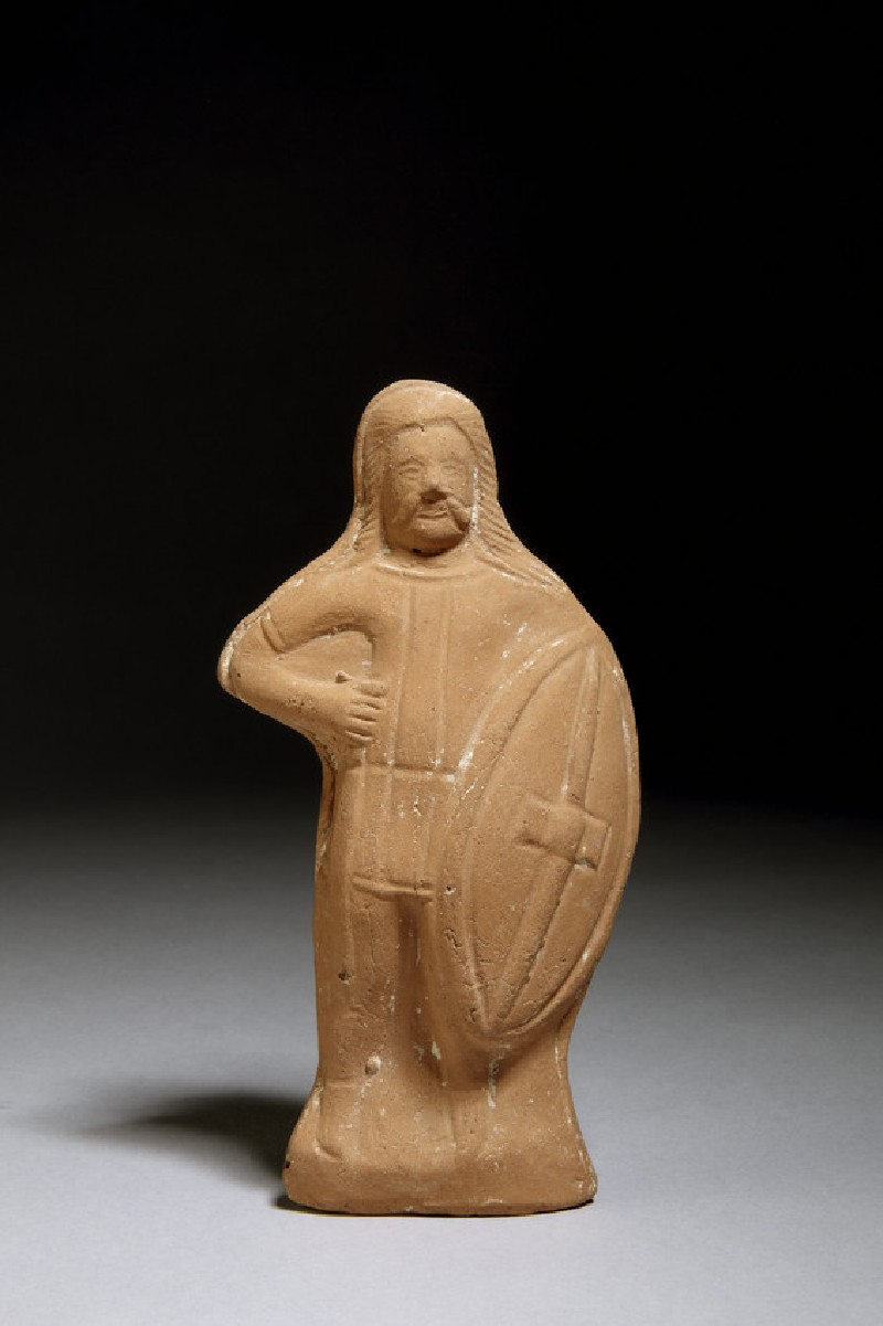 Terracotta statuette of a barbarian warrior