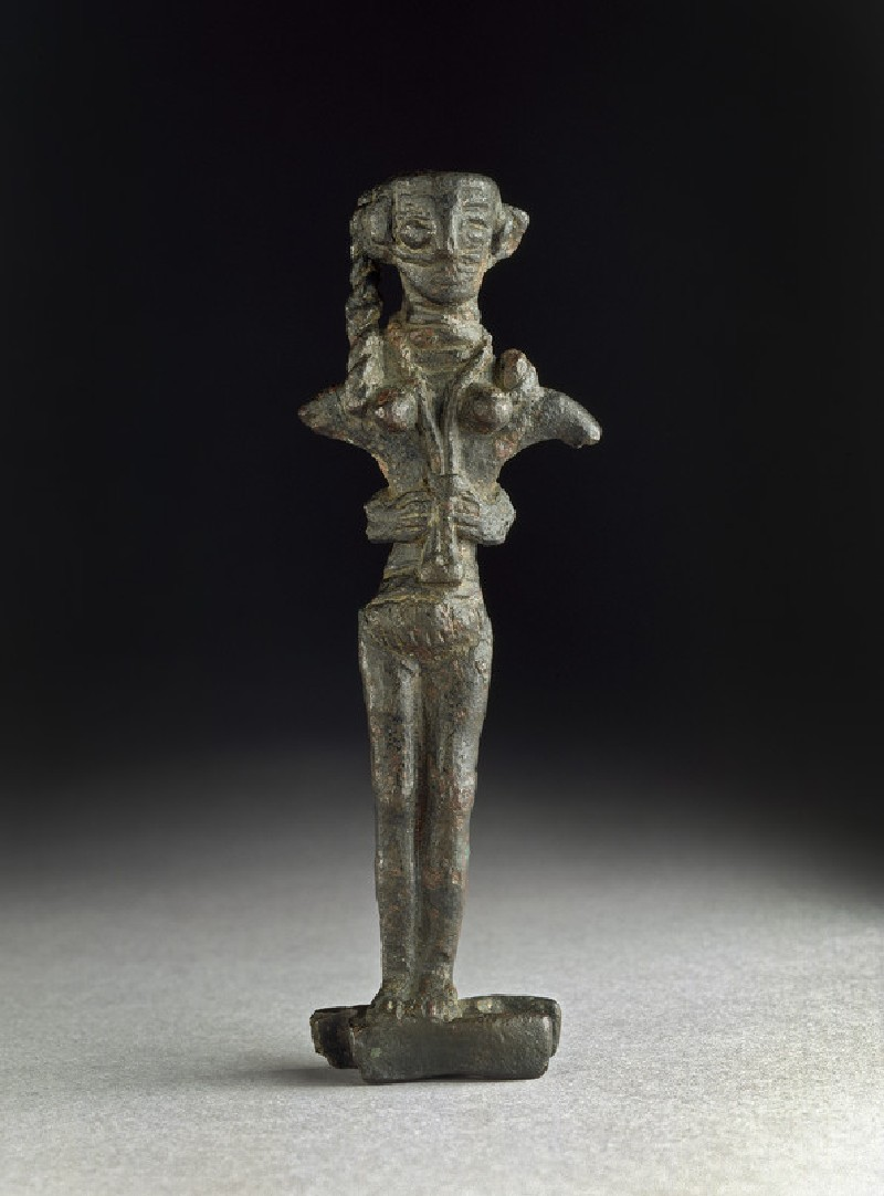 Copper figurine of Astarte on an ingot (AN1971.888)
