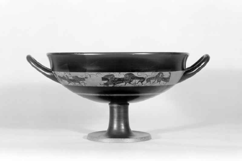 Attic black-figure stemmed pottery cup (AN1972.162)