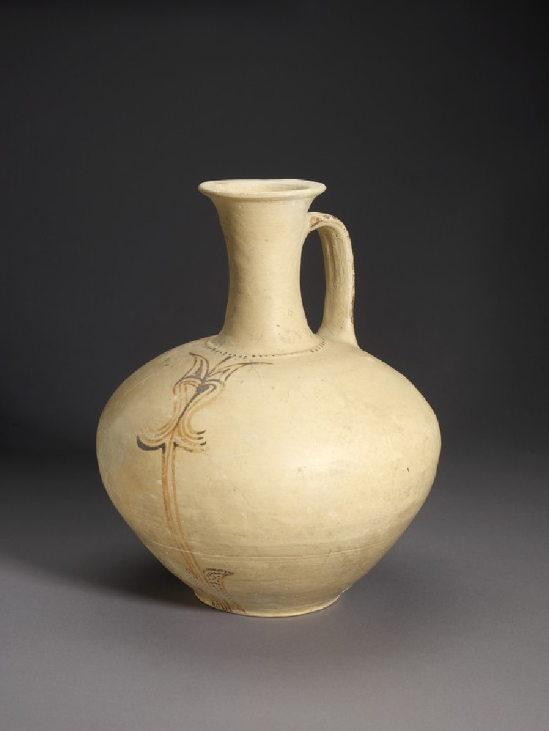 Mycenaean jug decorated with painted stylized vegetal ornament (AN1972.918)