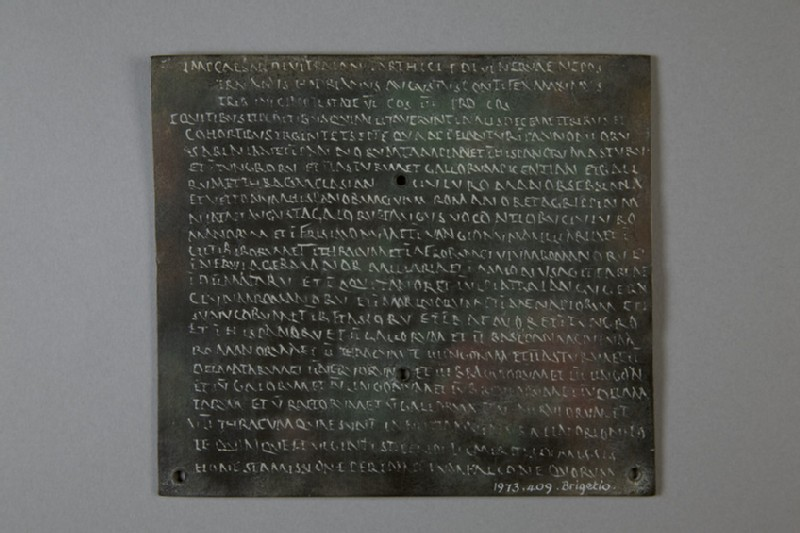 Electrotype copy of a diploma with Greek inscription (AN1973.409.b)