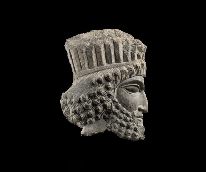 Sculpture of the head of a Persian (AN1982.944)