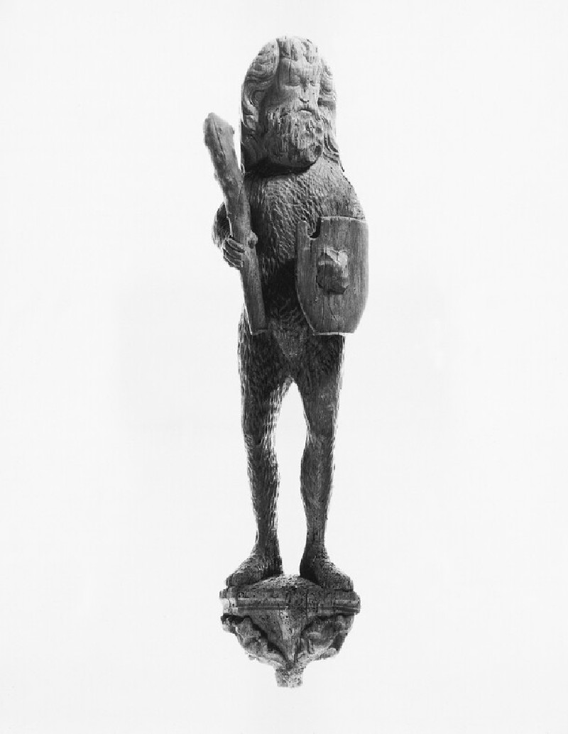 Carved figure of a wild man