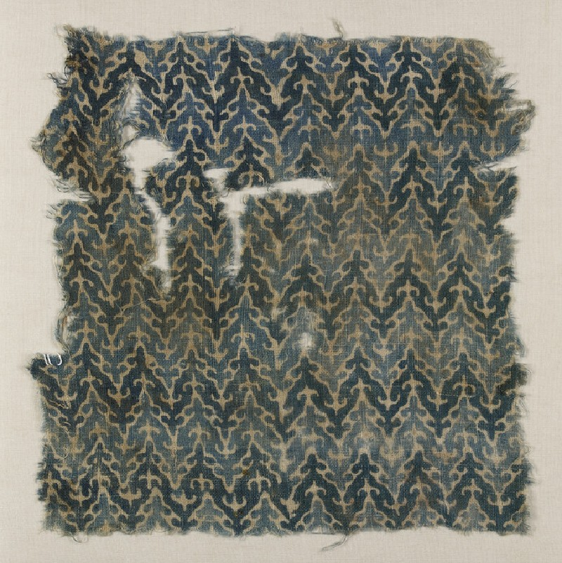 Textile fragment with check pattern (AN1996.40)