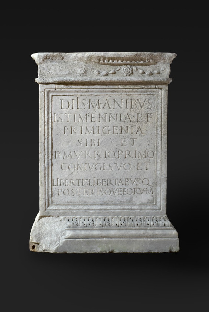 Altar with Latin inscription (AN2008.47)