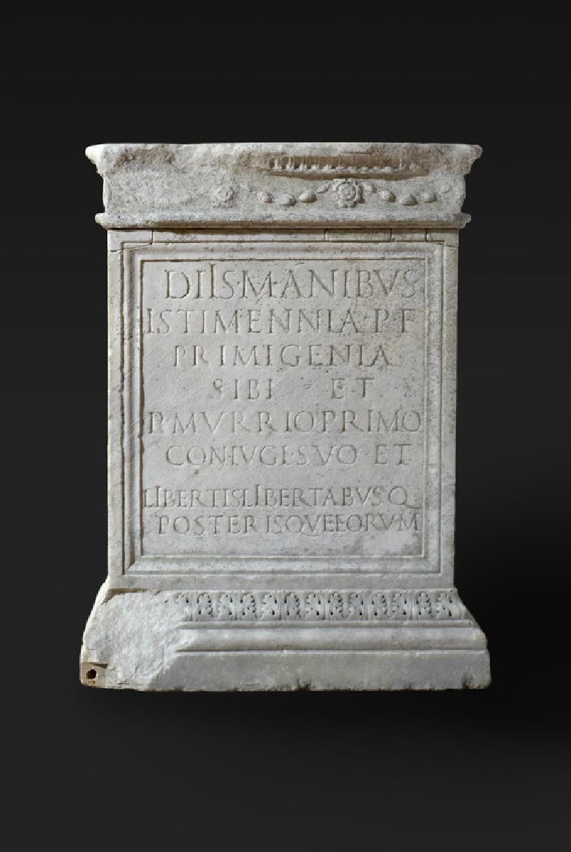 Altar with Latin inscription