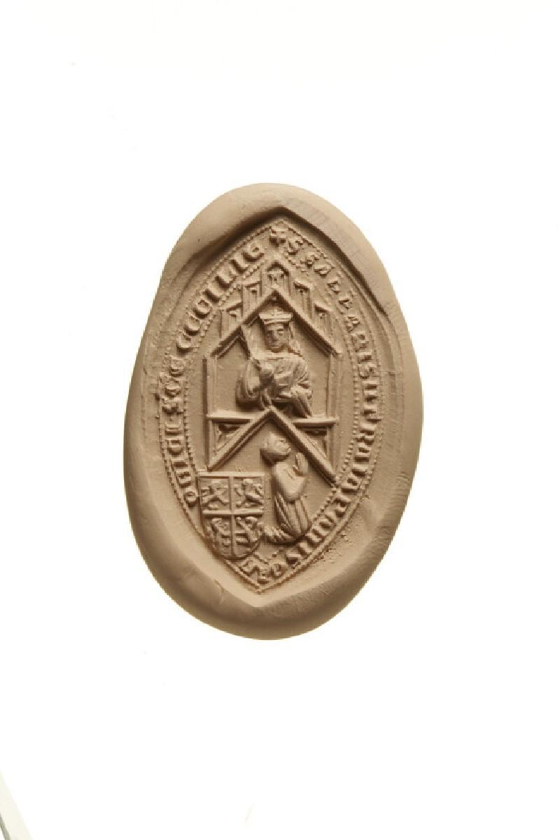 Seal of Sabas of the Frangipani, Canon of St Cecilia, Rome